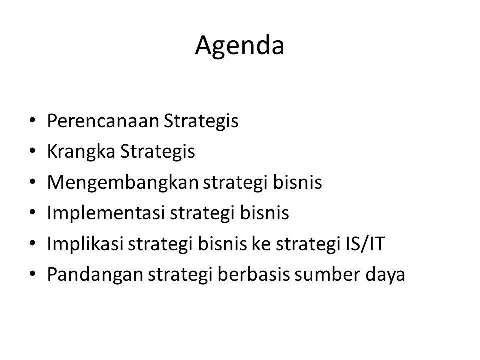 Agenda Perencanaan Strategis Krangka Strategis