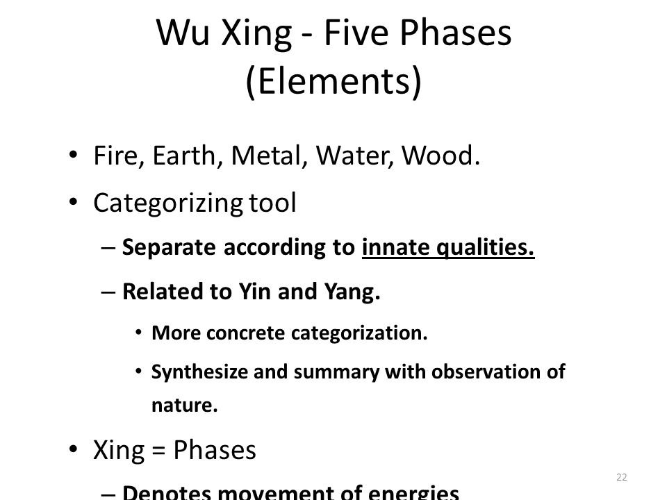 Wu Xing - Five Phases (Elements)