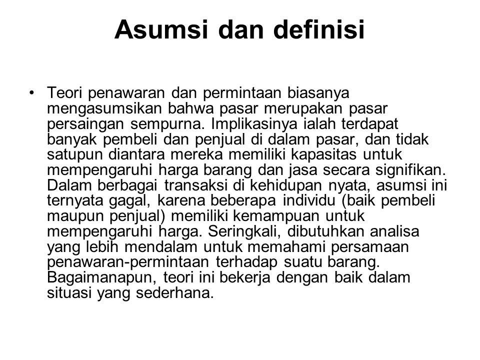 Asumsi dan definisi
