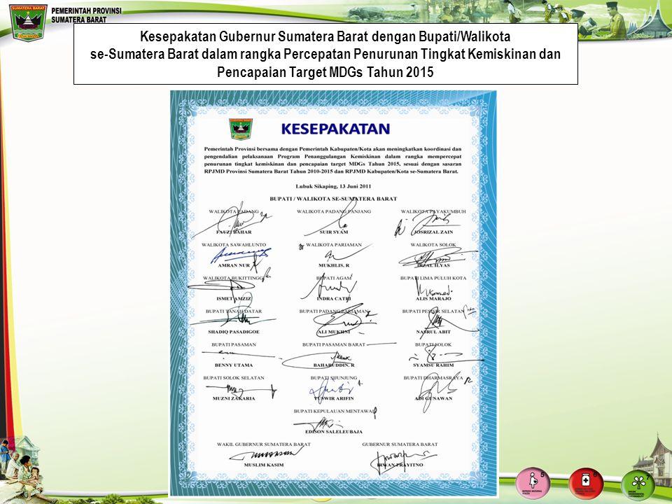 Kesepakatan Gubernur Sumatera Barat dengan Bupati/Walikota