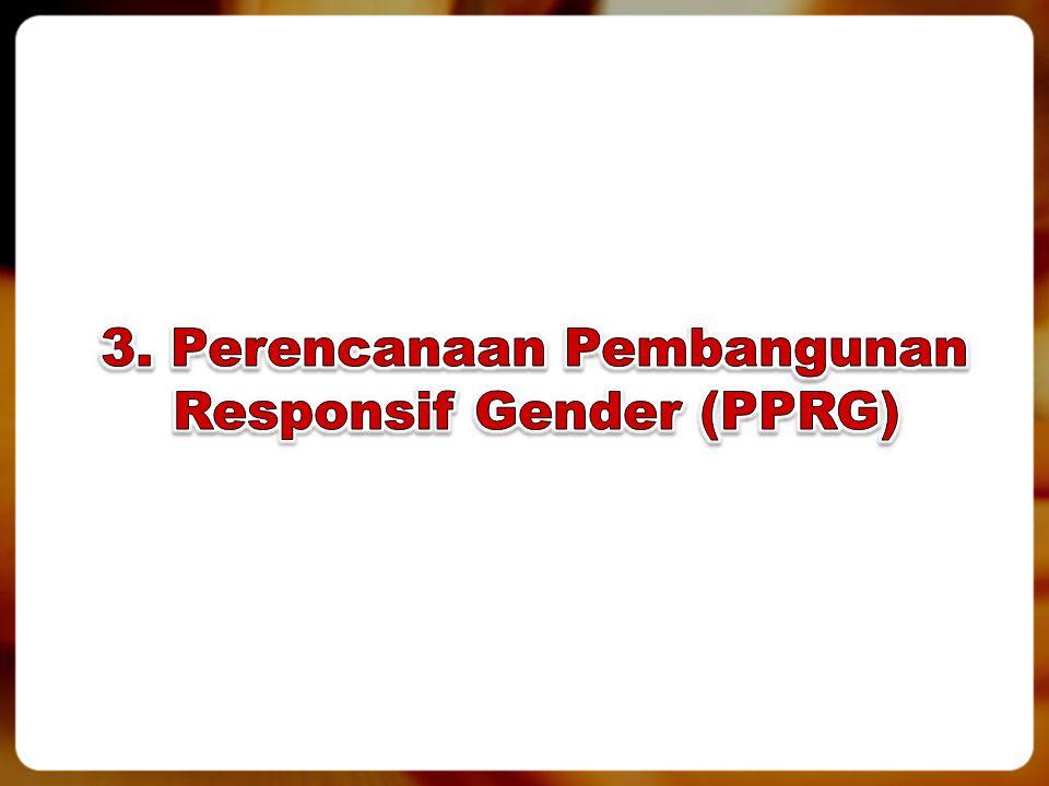3. Perencanaan Pembangunan Responsif Gender (PPRG)