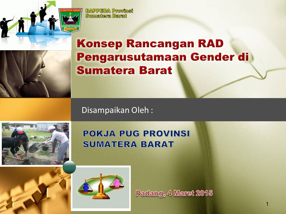 Konsep Rancangan RAD Pengarusutamaan Gender di Sumatera Barat