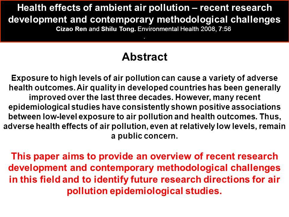 Cizao Ren and Shilu Tong. Environmental Health 2008, 7:56