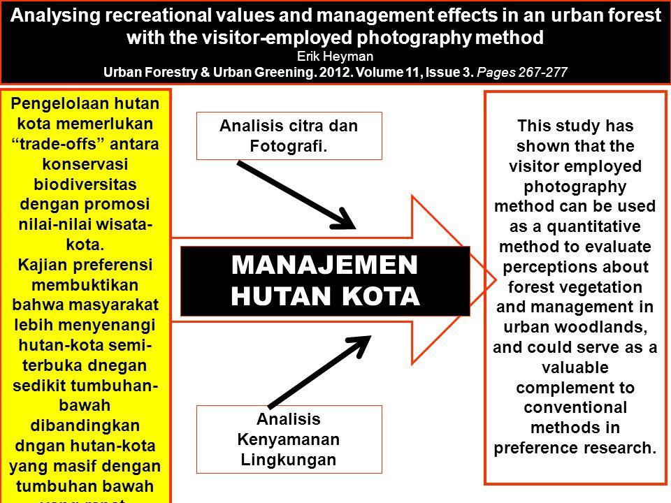 Analisis citra dan Fotografi. Analisis Kenyamanan Lingkungan