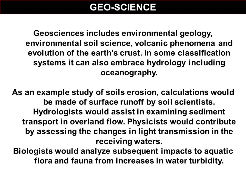 GEO-SCIENCE