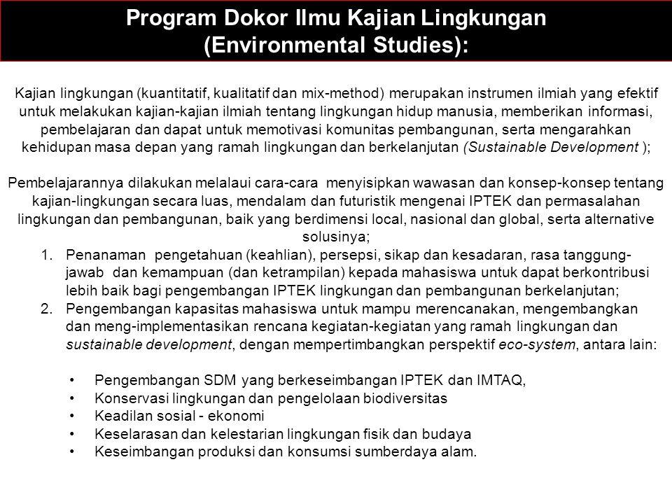 Program Dokor Ilmu Kajian Lingkungan (Environmental Studies):
