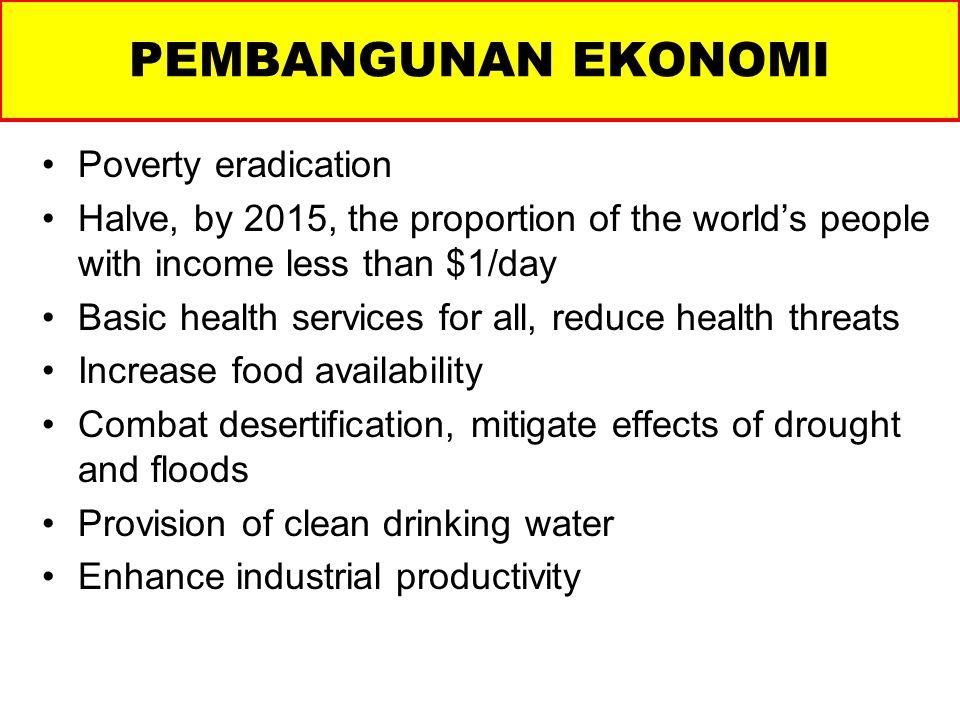 PEMBANGUNAN EKONOMI Poverty eradication