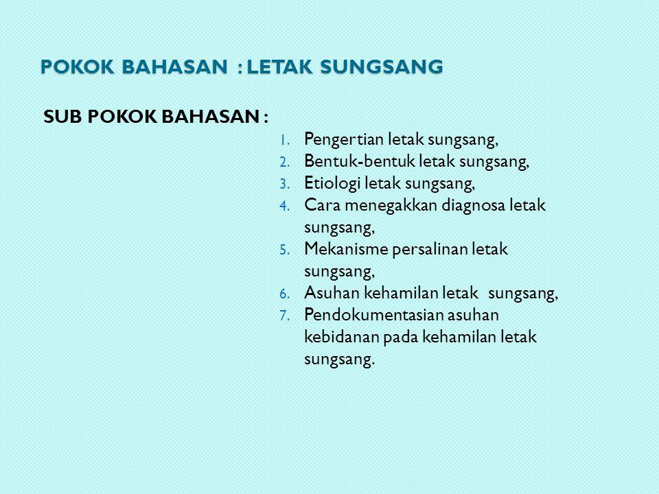 POKOK BAHASAN : Letak sungsang