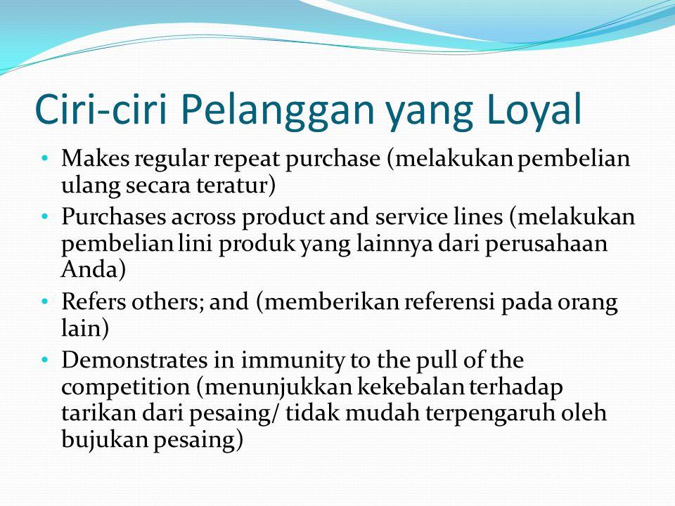 Ciri-ciri Pelanggan yang Loyal