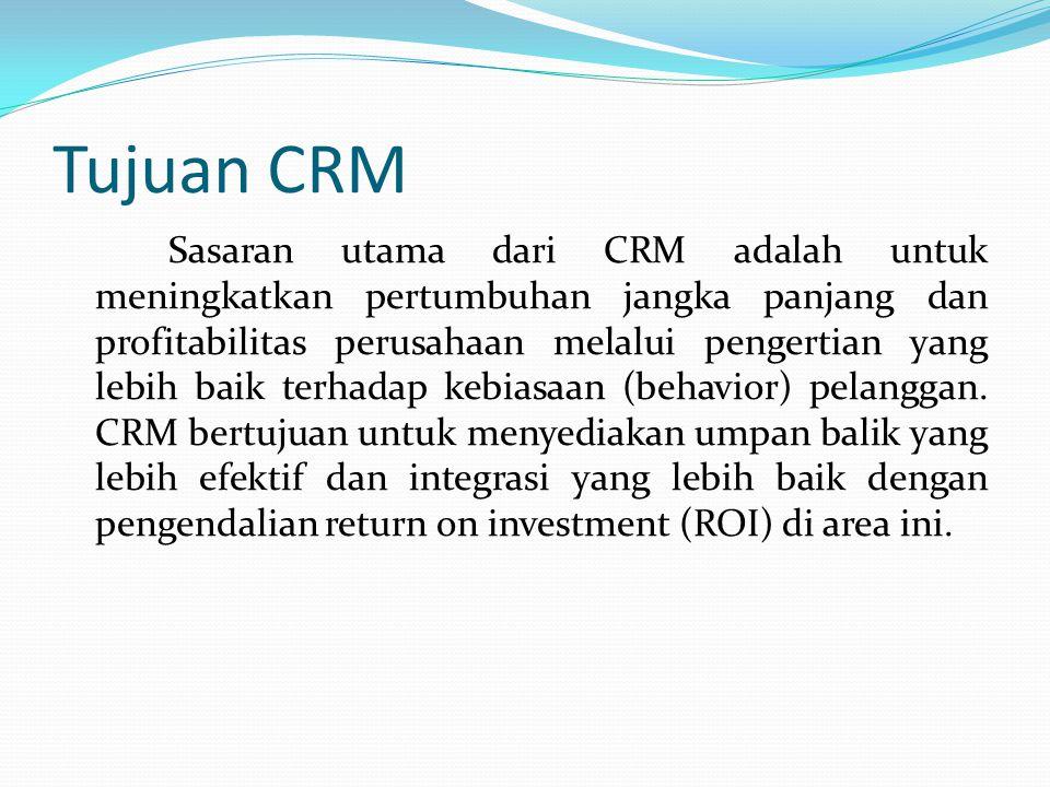 Tujuan CRM