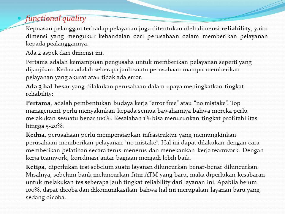 functional quality Ada 2 aspek dari dimensi ini.