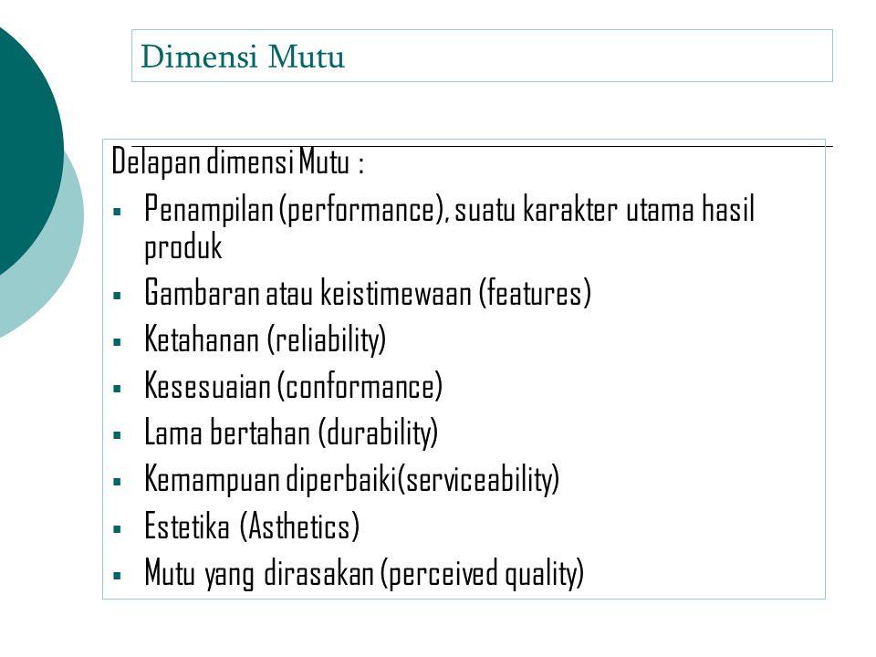 Penampilan (performance), suatu karakter utama hasil produk