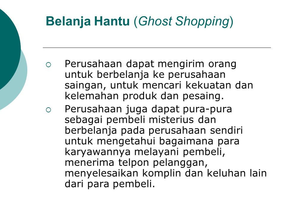 Belanja Hantu (Ghost Shopping)