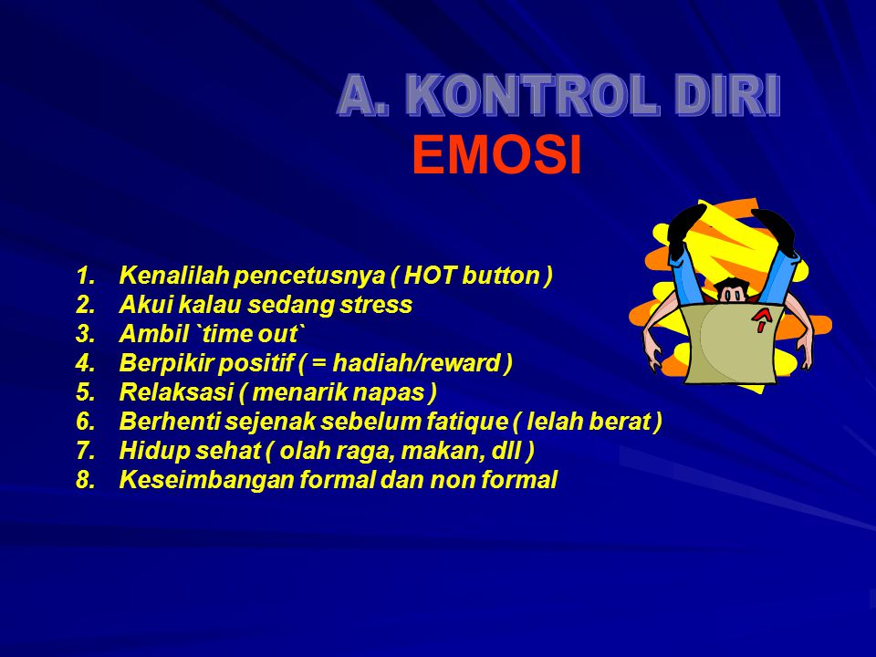 EMOSI A. KONTROL DIRI Kenalilah pencetusnya ( HOT button )