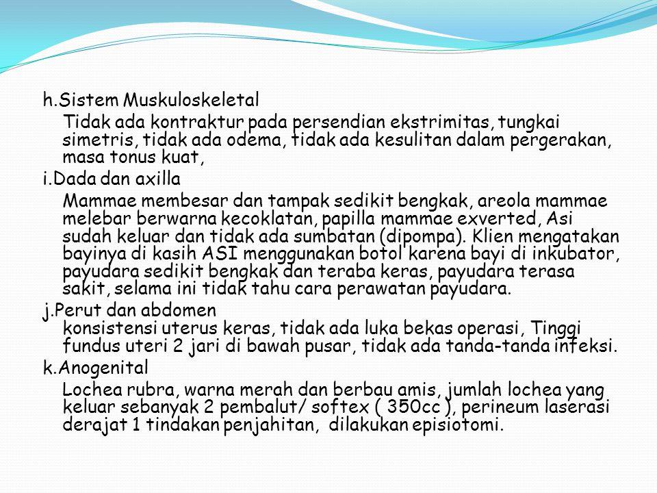 h.Sistem Muskuloskeletal