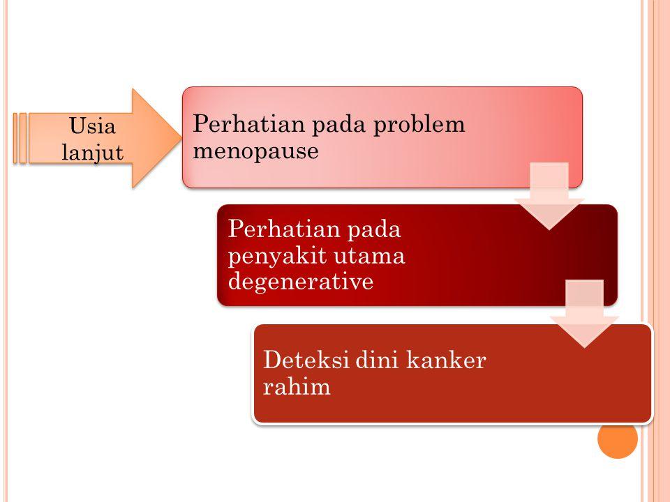 Usia lanjut Perhatian pada problem menopause