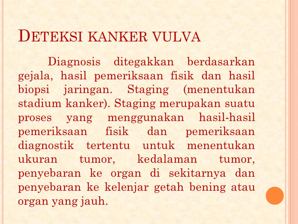 Deteksi kanker vulva