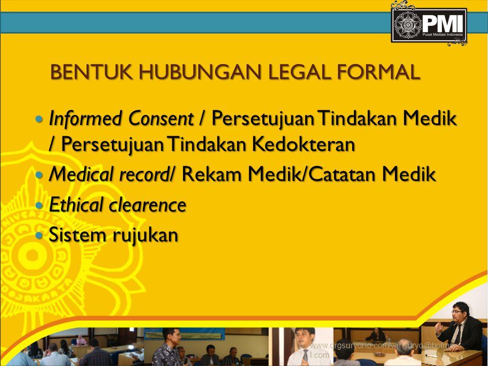BENTUK HUBUNGAN LEGAL FORMAL