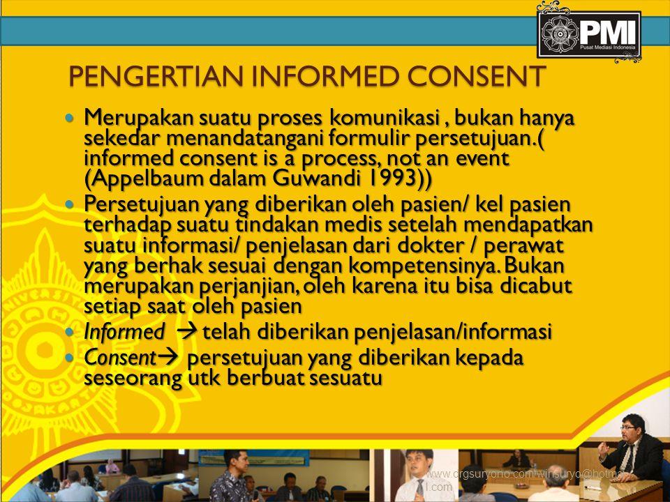PENGERTIAN INFORMED CONSENT