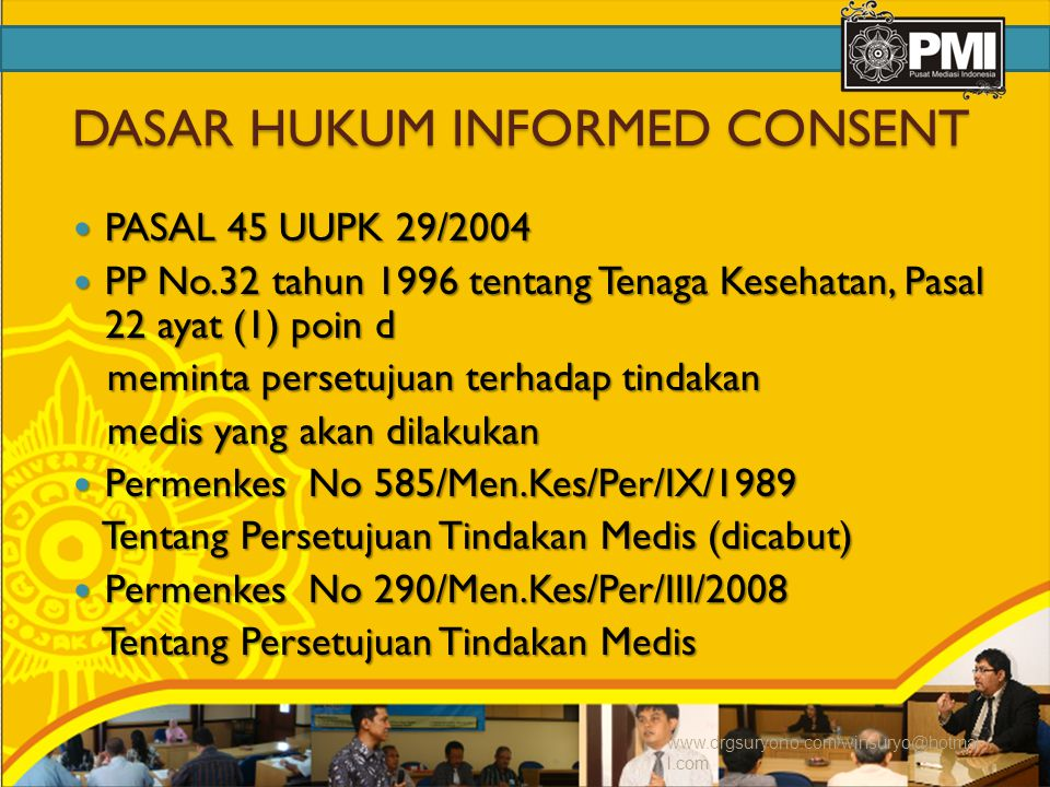 DASAR HUKUM INFORMED CONSENT