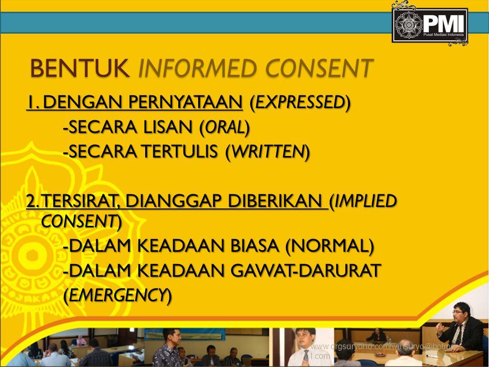 BENTUK INFORMED CONSENT
