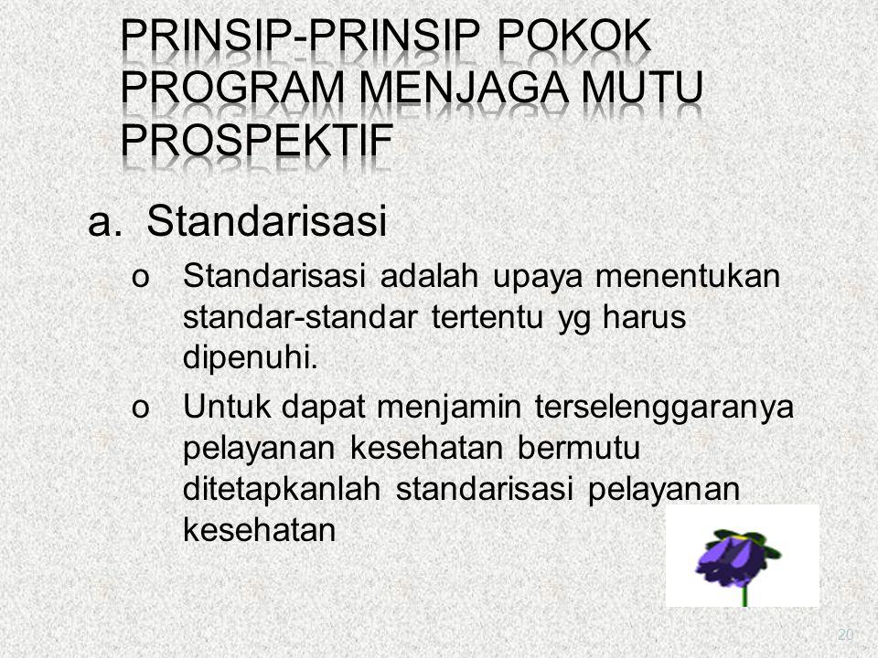 Prinsip-prinsip Pokok Program Menjaga Mutu Prospektif