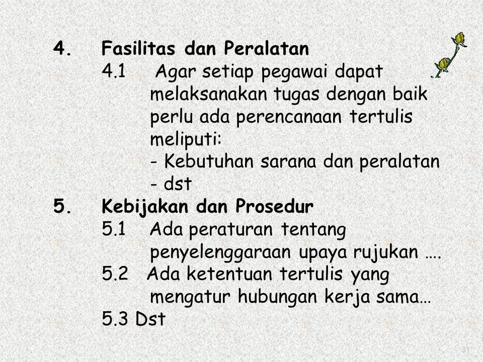 4. Fasilitas dan Peralatan