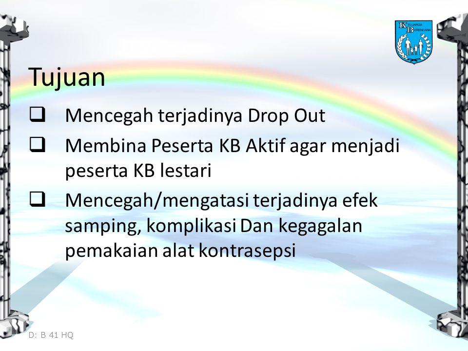 Tujuan Mencegah terjadinya Drop Out