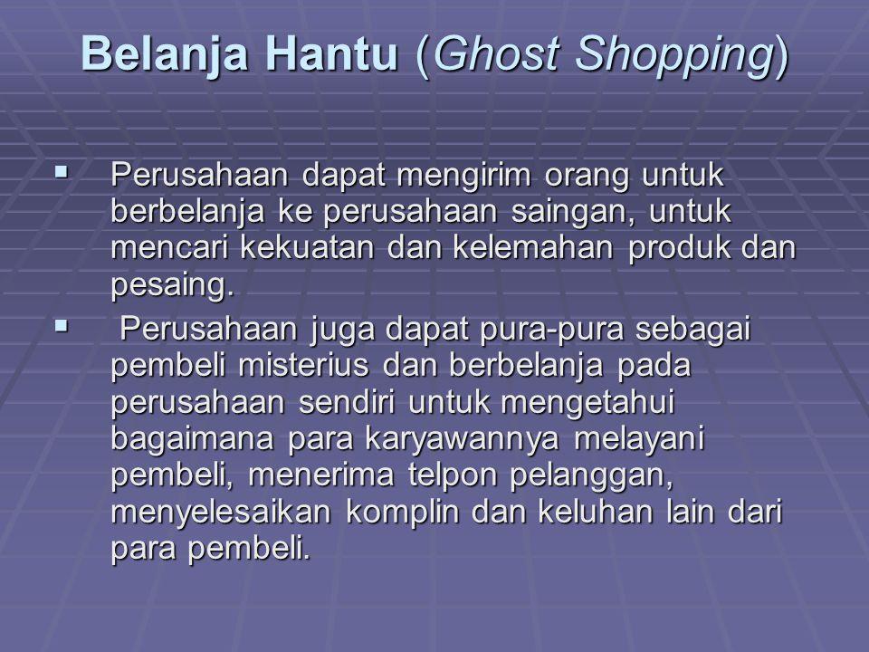 Belanja Hantu (Ghost Shopping)