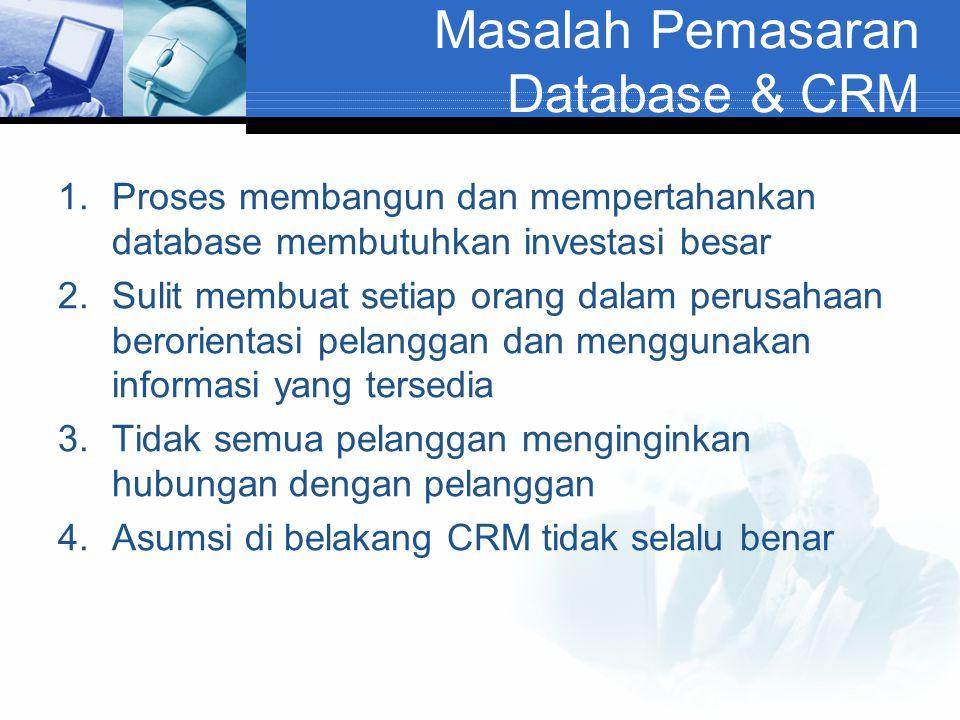 Masalah Pemasaran Database & CRM