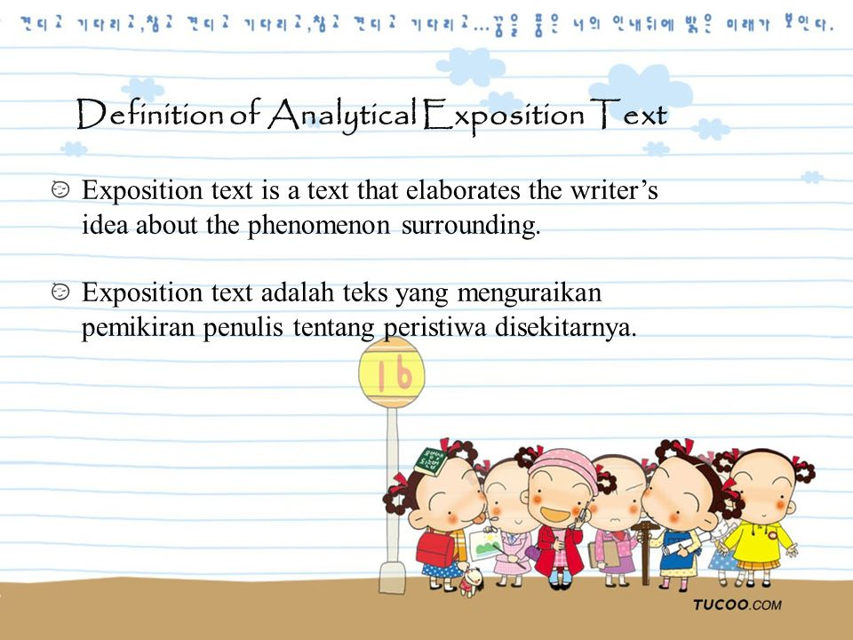 Definition of Analytical Exposition Text