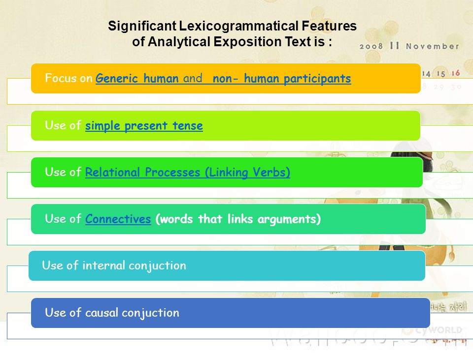 Significant Lexicogrammatical Features