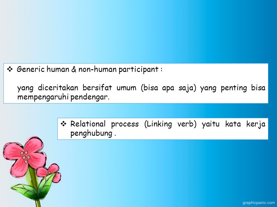 Generic human & non-human participant :