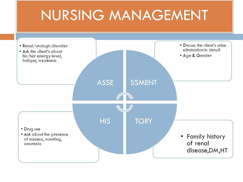 NURSING MANAGEMENT Renal/urologic disorder