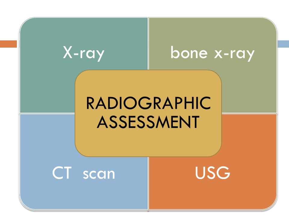 RADIOGRAPHIC ASSESSMENT