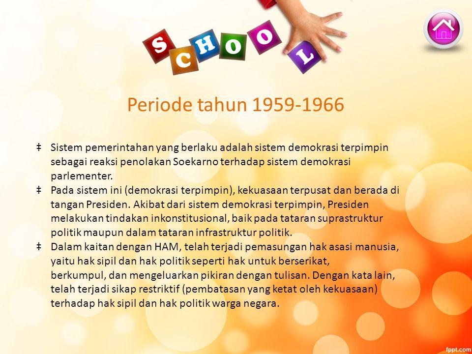 Periode tahun 1959-1966