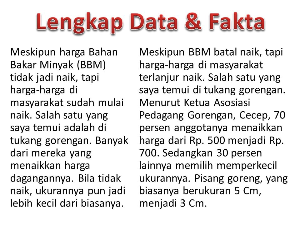 Lengkap Data & Fakta
