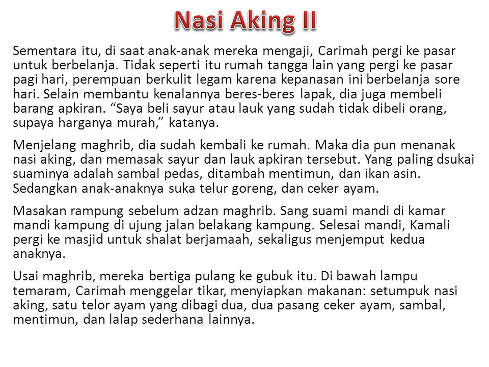 Nasi Aking II