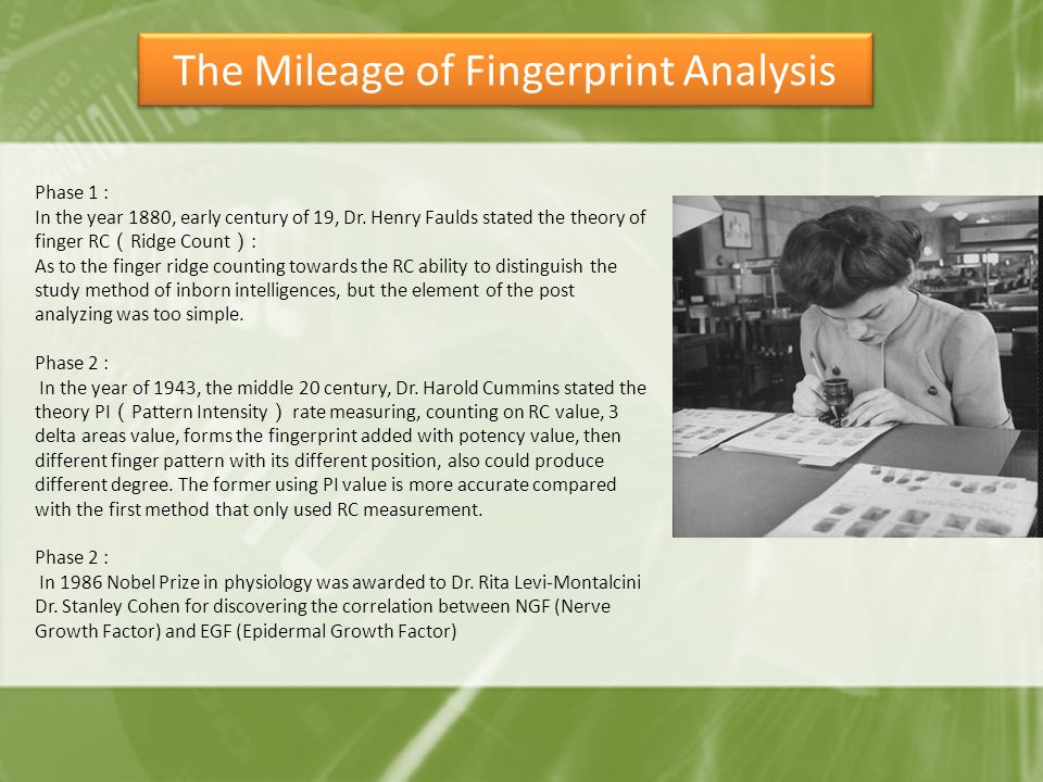 The Mileage of Fingerprint Analysis