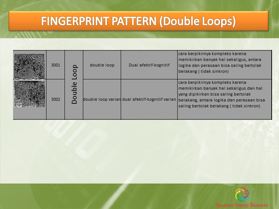 FINGERPRINT PATTERN (Double Loops)