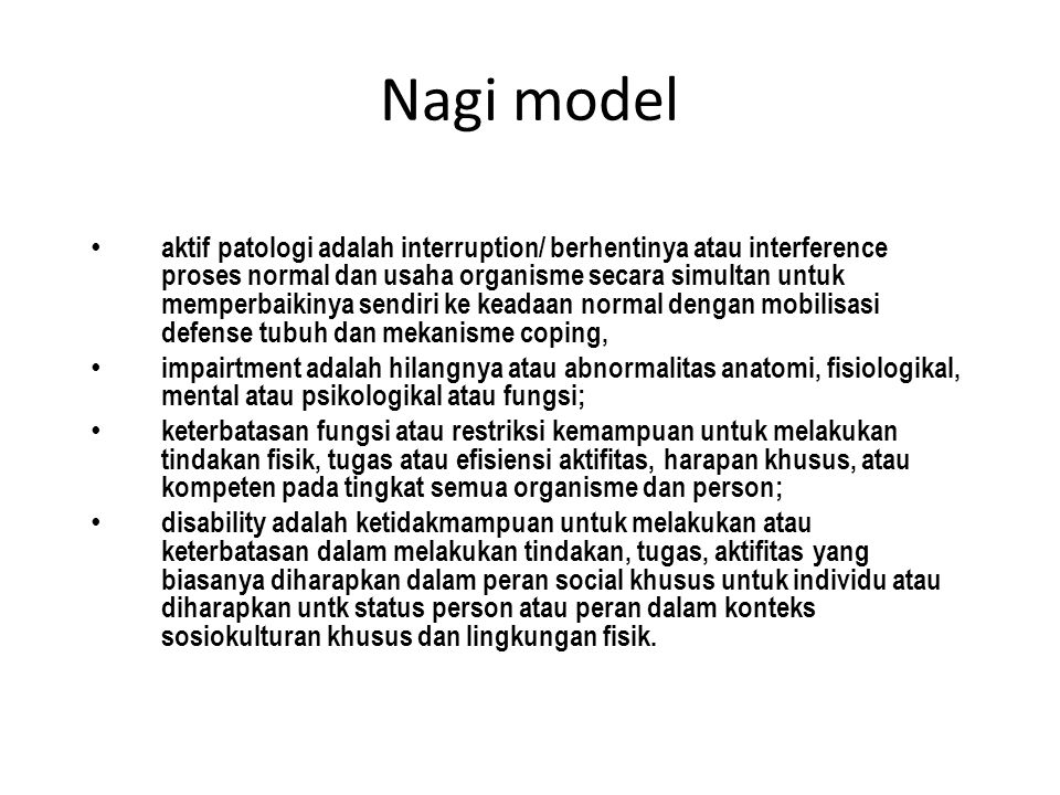 Nagi model