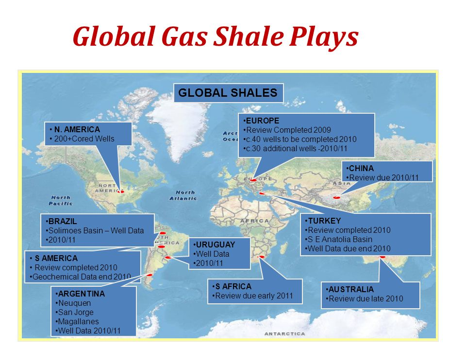 Global Gas Shale Plays GLOBAL SHALES EUROPE Review Completed 2009