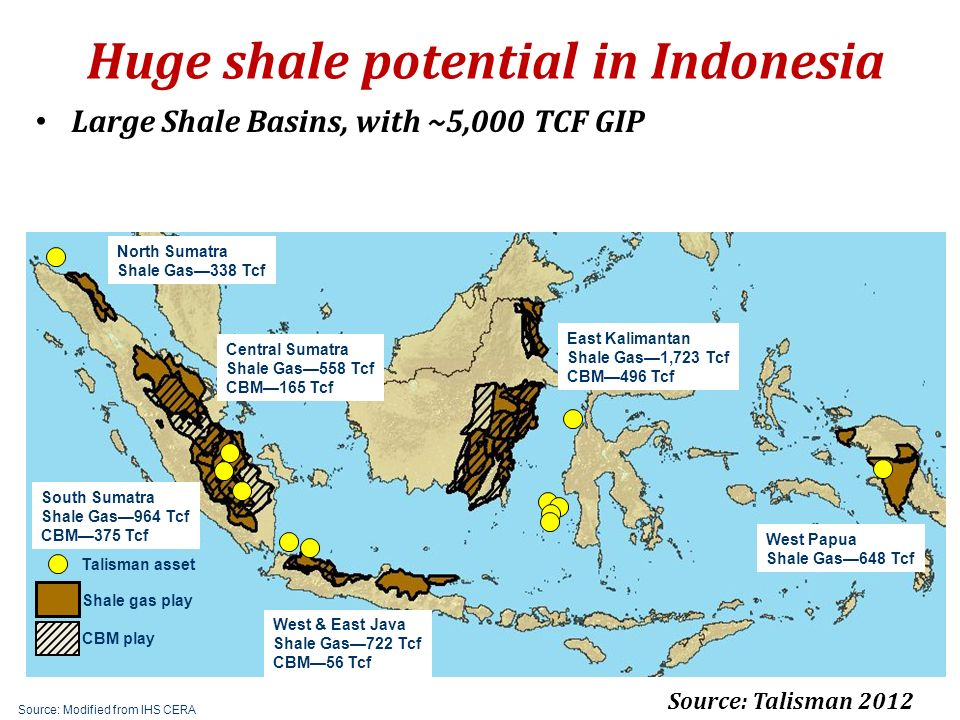 Huge shale potential in Indonesia