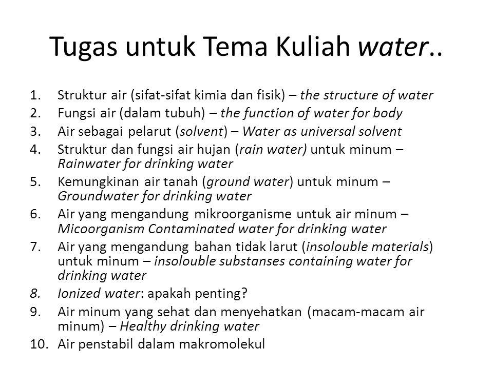 Tugas untuk Tema Kuliah water..