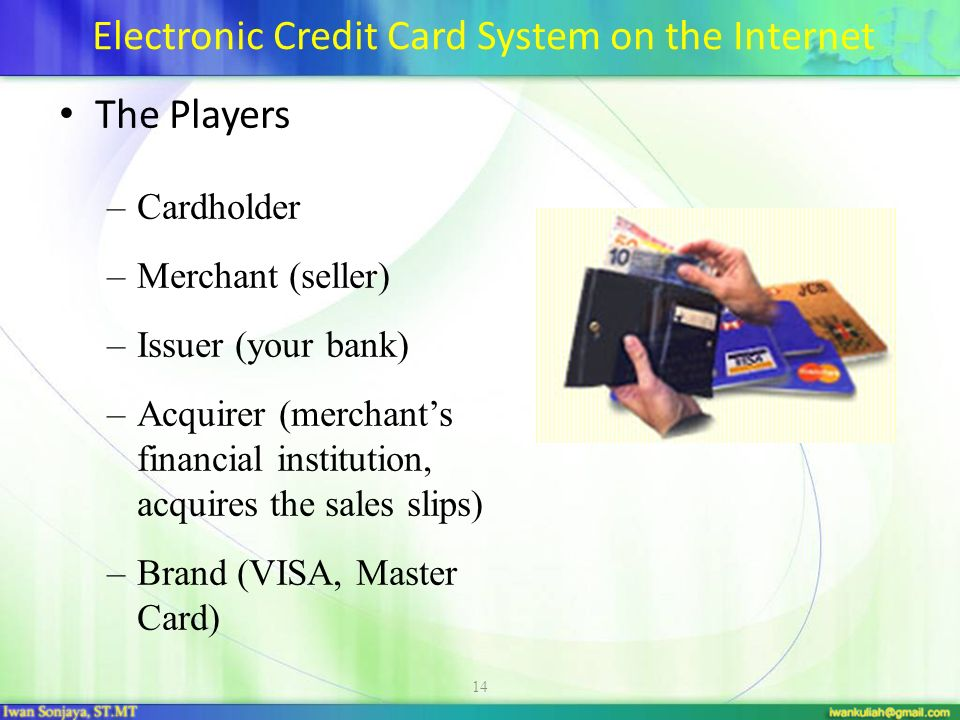 Electronic Credit Card System on the Internet