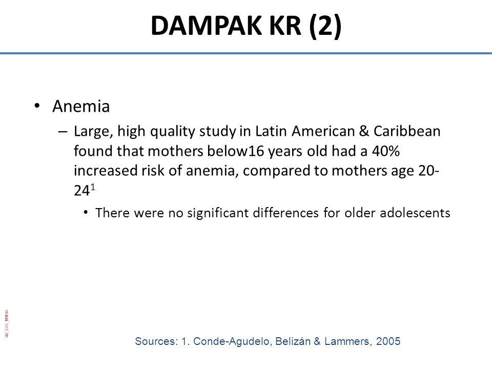 DAMPAK KR (2) Anemia.