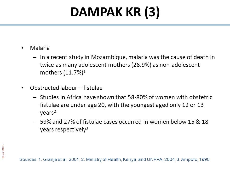 DAMPAK KR (3) Malaria.