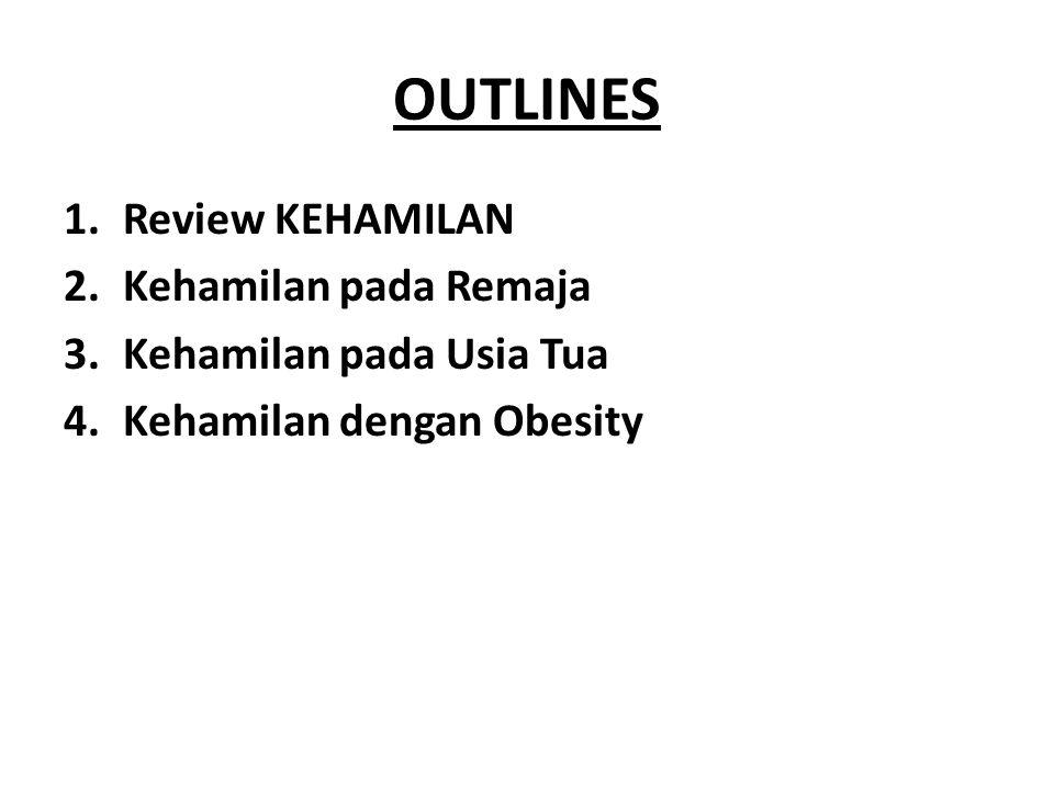 OUTLINES Review KEHAMILAN Kehamilan pada Remaja