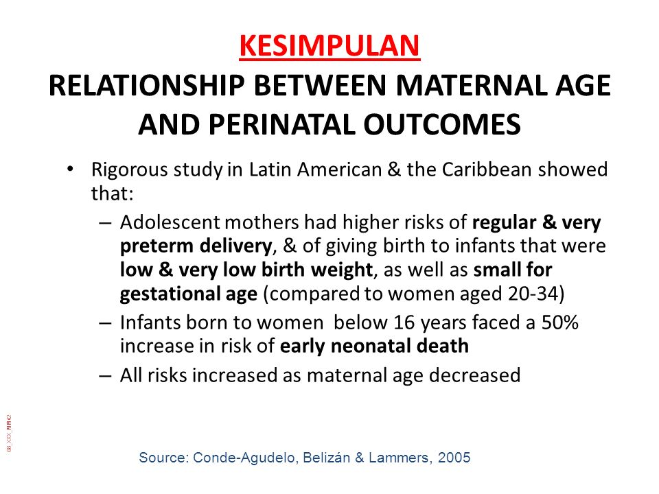 KESIMPULAN RELATIONSHIP BETWEEN MATERNAL AGE AND PERINATAL OUTCOMES