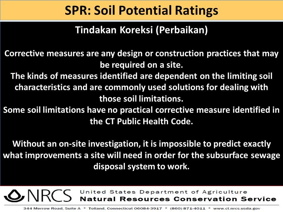 SPR: Soil Potential Ratings Tindakan Koreksi (Perbaikan)